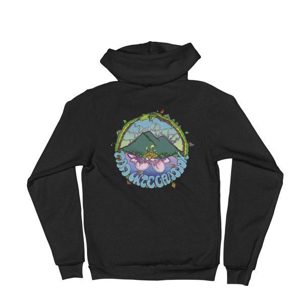 Friendy Ouroboros zipper hoodie black