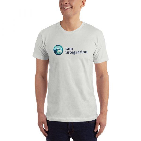 tam integration white logo shirt