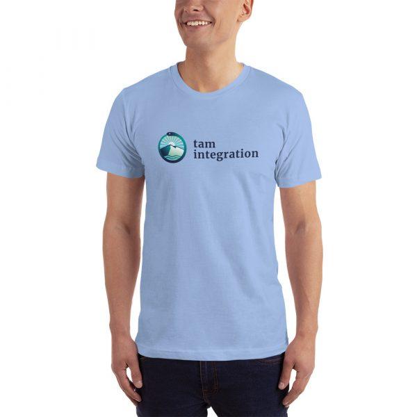 tam integration blue logo shirt